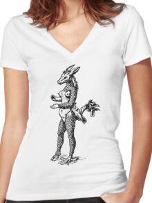 She-Donkey She-Demon Women's Fitted V-Neck T-Shirt