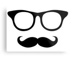 Nerdy Mustache Man Metal Print