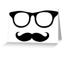Nerdy Mustache Man Greeting Card
