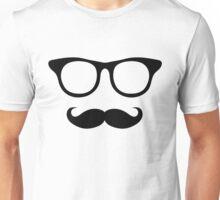 Nerdy Mustache Man Unisex T-Shirt