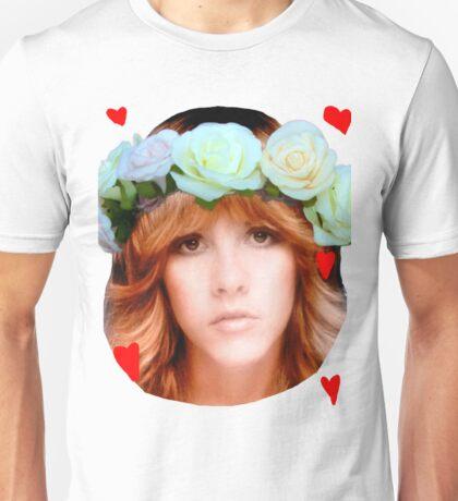 Stevie Nicks Flowers Unisex T-Shirt