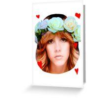 Stevie Nicks Flowers Greeting Card