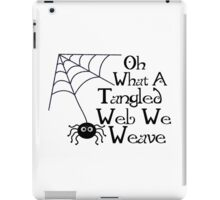 Tangled Web Spider iPad Case/Skin