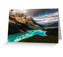 Peyto lake in Canada Greeting Card