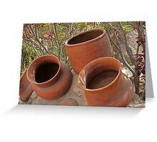 Ceramic Pots Greeting Card