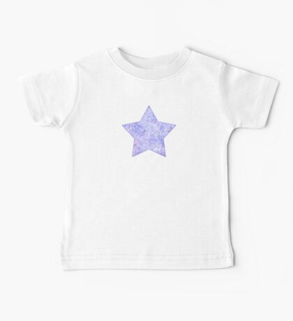 Lavender and white swirls doodles Baby Tee