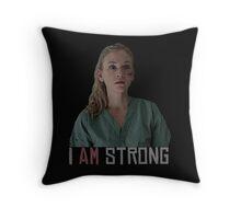 I AM Strong. Throw Pillow