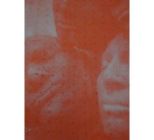 Red Screen-print (Expanding foam faces) Photographic Print