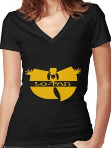 Lo Pan Clan (yellow) Women's Fitted V-Neck T-Shirt