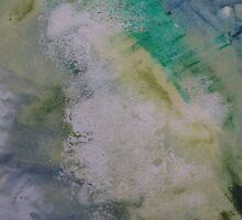 Expanding Foam portrait screen-print zoomed in  by Kathryn Anne Trussler