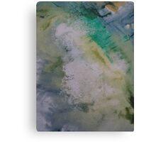 Expanding Foam portrait screen-print zoomed in  Canvas Print