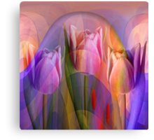 Tulips Festival, abstract floral art Canvas Print