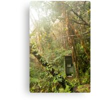 Toilet in mountain forest Canvas Print