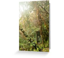 Toilet in mountain forest Greeting Card
