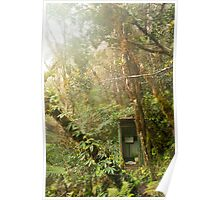Toilet in mountain forest Poster