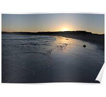 Beach Sunset Landscape Poster