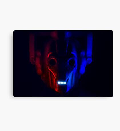 Cyberman Portrait Dr Who Canvas Print