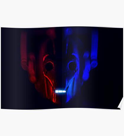 Cyberman Portrait Dr Who Poster
