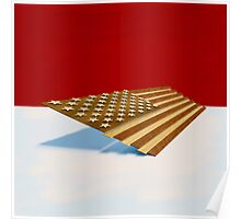 American Flag Wood Poster