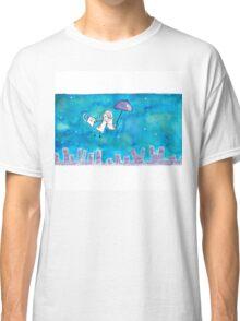 Cat Over City Classic T-Shirt