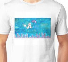 Cat Over City Unisex T-Shirt