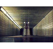 Dalek from Doctor Who in subway Photographic Print