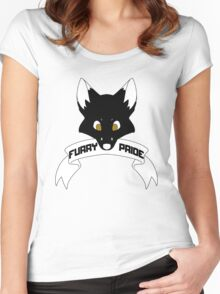 Furry Pride - Fox Women's Fitted Scoop T-Shirt