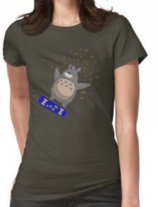 Totoro Skate Womens Fitted T-Shirt