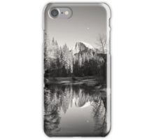 Half Dome with moon and reflection iPhone Case/Skin