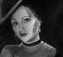 Miss Lamarr's Portrait by Anne Guimond