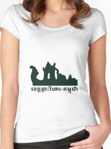Prasvihear-Cambodia Women's Fitted Scoop T-Shirt