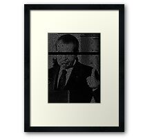 In Nixon We Follow Framed Print