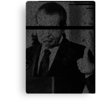 In Nixon We Follow Canvas Print