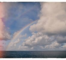 Double Rainbow over The Indian Ocean by DavyRedbone