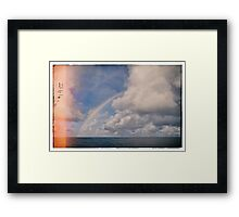 Double Rainbow over The Indian Ocean Framed Print