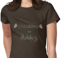 Crossbows and Melodies. Womens Fitted T-Shirt