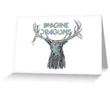 Imagine Dragons Deer Greeting Card