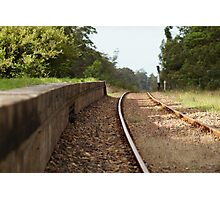 Old Train Platform Photographic Print