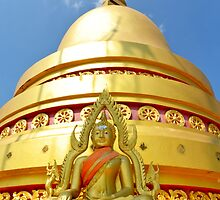 Tiger Temple dome and buddha by Debra Kurs