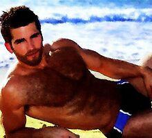 Beach Bear Hunk by BrianJoseph