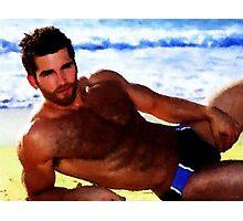 Beach Bear Hunk Photographic Print