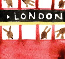 Bunny in London Sticker