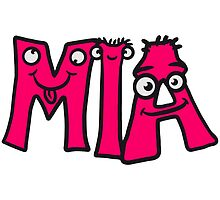 MIA first name child comic book fun by Style-O-Mat