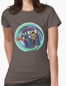 A Dent in the TARDIS Womens Fitted T-Shirt
