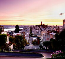 San Francisco From Lombard Street by lifeinfineart