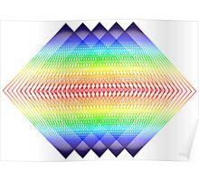Trippy Spectral Diamonds Poster