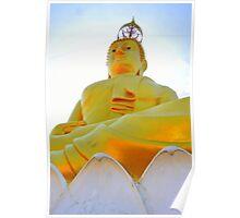 Buddha on lotus leaf  Poster