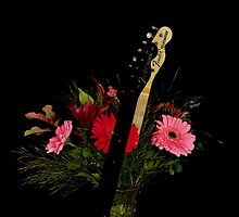Guitar Flowers 3 by lifeinfineart