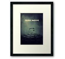 Imagine Dragons Album Morph-Green Framed Print