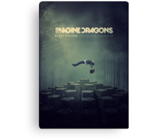 Imagine Dragons Album Morph-Green Canvas Print